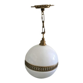 Ralph Laurent White Glass Sphere Pendant Light