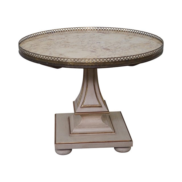 John Widdicomb French-Style Marble Coffee Table - Image 1 of 10