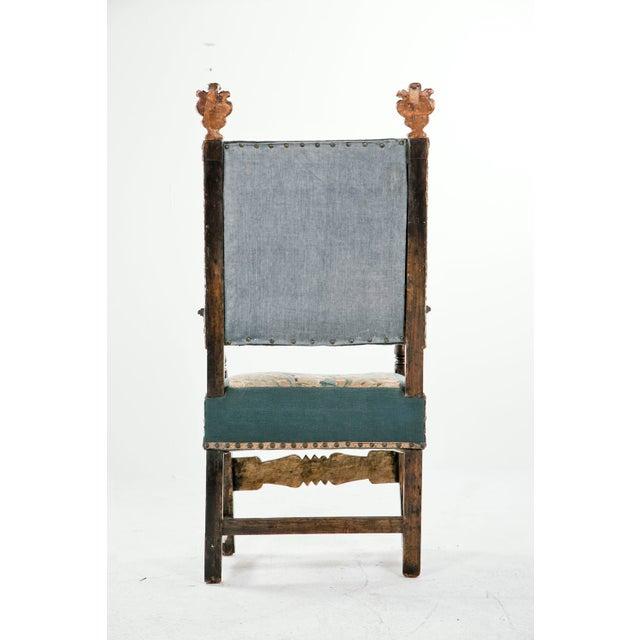 Mid 18th Century 18th Century Italian Walnut Arm Chair For Sale - Image 5 of 6