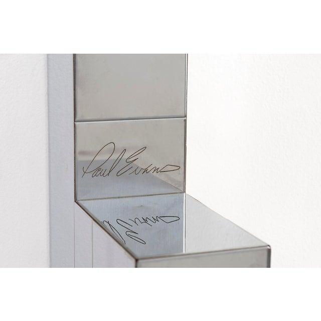 White Paul Evans Floating Cityscape Shelf + Stool For Sale - Image 8 of 10