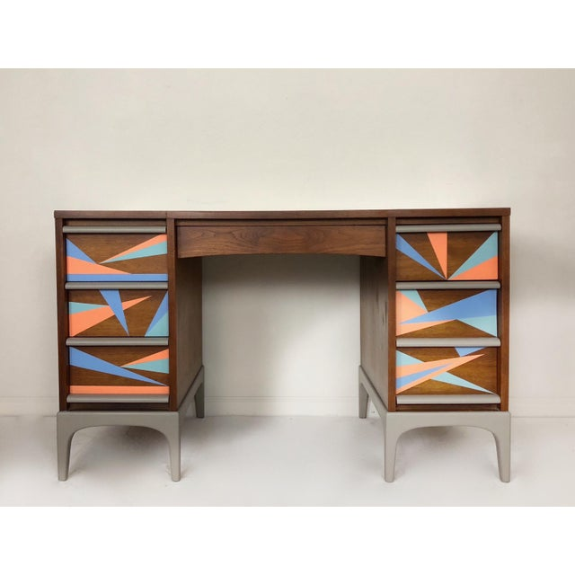 Mid-Century Modern 1960s Vintage Lane Furniture Mid-Century Modern Desk & Chair - 2 Pieces For Sale - Image 3 of 8
