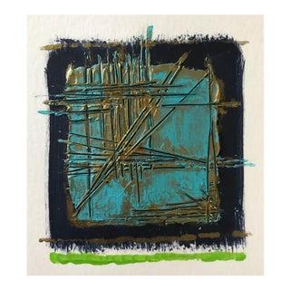 """Original Mixed Media """"Broken Grid"""" Painting"""