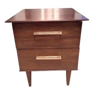 1960s Mid Century Modern Wooden Nightstand