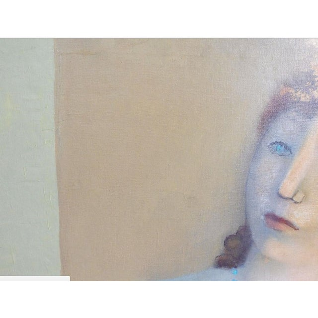 Large Painting by Provincetown Painter Remo Michael Farrugio of His 3rd Wife Well Listed For Sale In Miami - Image 6 of 10