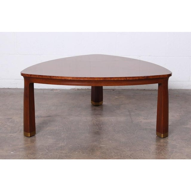Mid-Century Modern Triangle Coffee Table by Edward Wormley for Dunbar For Sale - Image 3 of 9