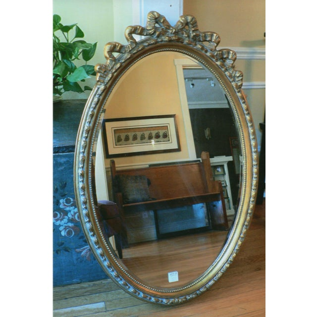 Gold Glided Oval Mirror - Image 2 of 3