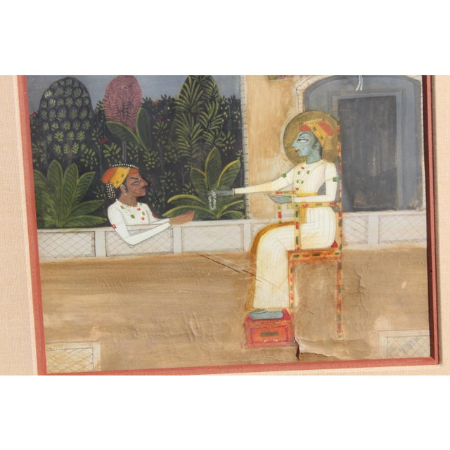 Early 19th Century 18th C. Indian Gouache Painting For Sale - Image 5 of 7
