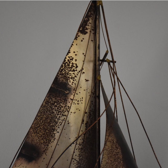 Nautical Curtis Jere Sailboat Wall Hanging Sculpture For Sale - Image 3 of 11
