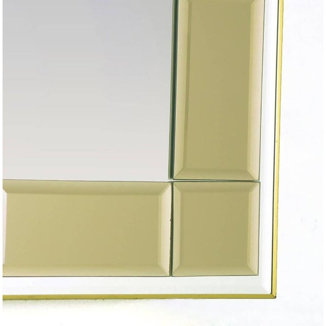 Striking Labarge Wall Mirror with Beveled Smoked Glass Mosaic Border - Image 4 of 5