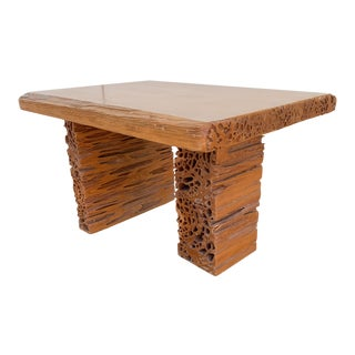 Studio Craft Pecky Cypress Table For Sale