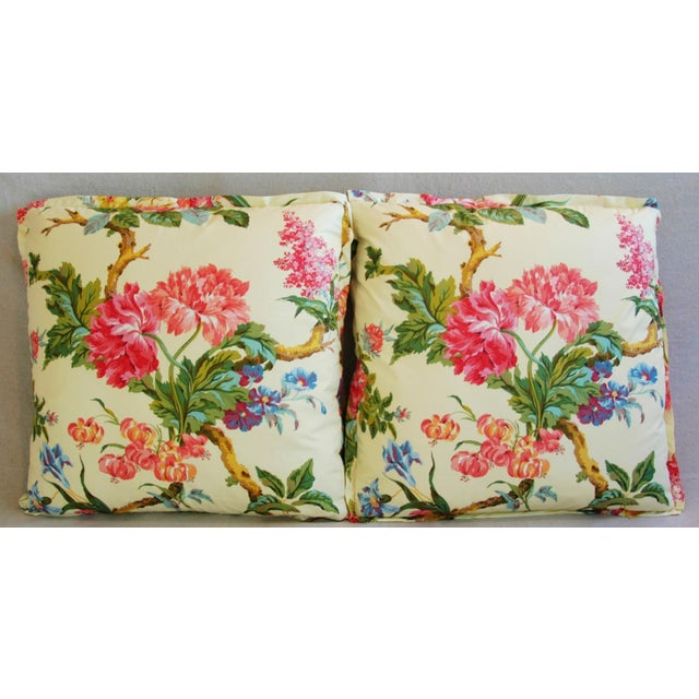 Brunschwig & Fils Coligny Spring Floral Pillows - a Pair - Image 3 of 10