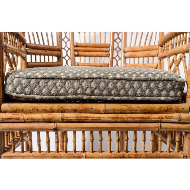 Brighton Bamboo Barrel Chairs, A-Pair For Sale - Image 10 of 13