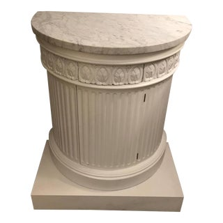 Marble-Top Column Cabinet