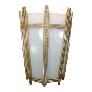 """Art Deco Bronze and Glass """"Federal"""" Wall Sconce For Sale"""