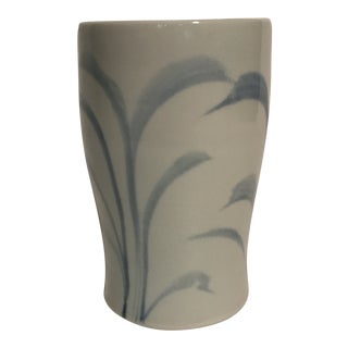 Hand Painted Blue and White Pottery Cup