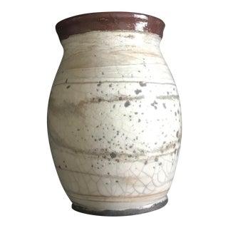 Studio Cream Spotted Pottery Vase