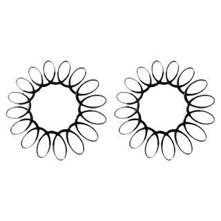 Italian Mid-Century Modern Sunburst Mirrors - a Pair For Sale