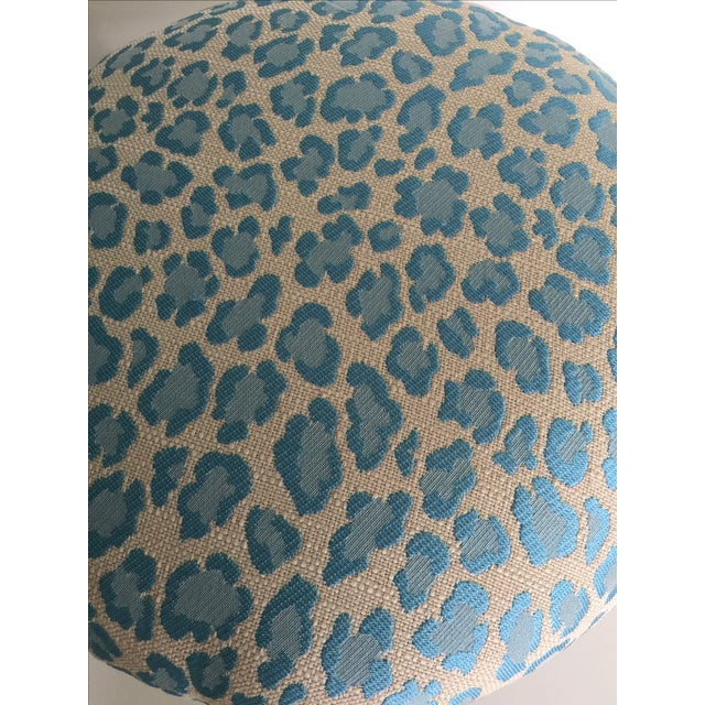 Gold Leopard Fabric Stool - Image 4 of 4