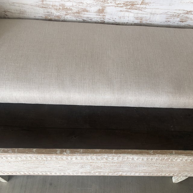 Vintage Gustavian Newly Upholstered Daybed For Sale - Image 12 of 13