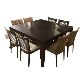 Transitional Bermex Dining Set - 9 Pieces For Sale