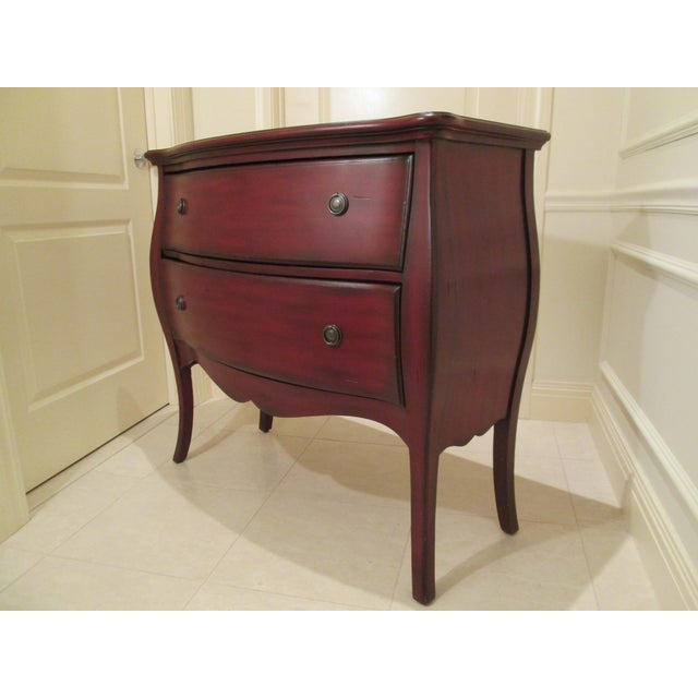 Deep Red Bombe Chest - Image 8 of 9