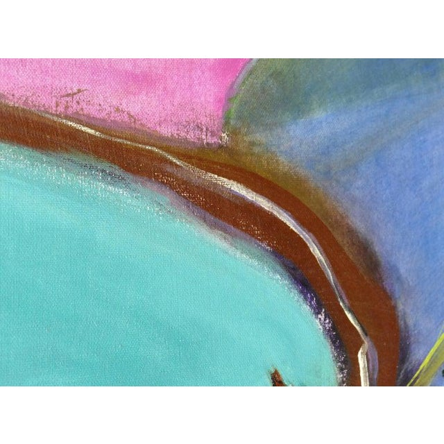 1990s Abstract Modern Painting by Eve Wasser For Sale - Image 5 of 10
