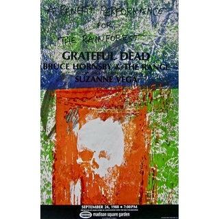 Robert Rauschenberg Grateful Dead, 1988 Rainforest Benefit Poster 1988 For Sale