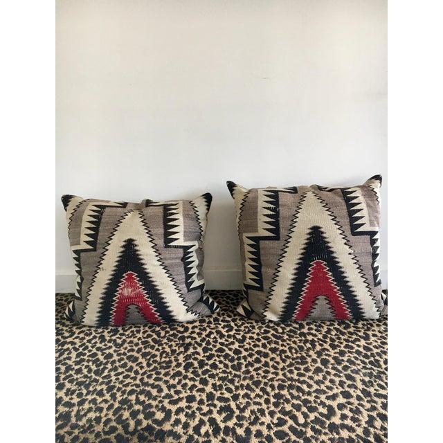 Geometric Navajo Weaving Pillows - Pair - Image 3 of 6