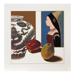 "Josef Levi, ""Still Life With Hans Meler"", Conceptual Screenprint For Sale"