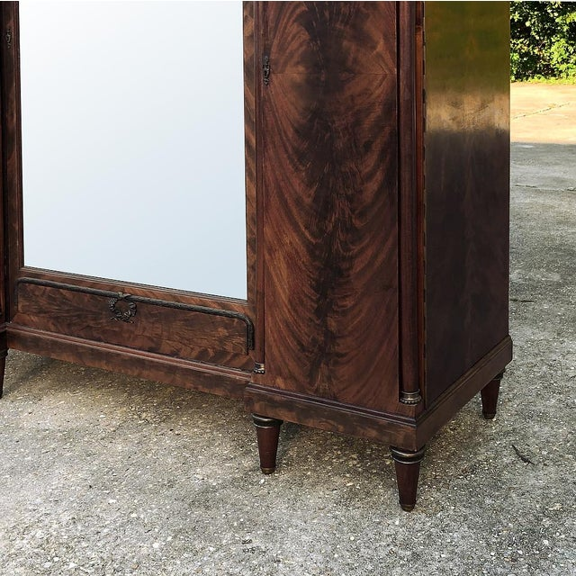 Antique French Neoclassical Mahogany Armoire For Sale In Baton Rouge - Image 6 of 13