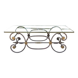 Hollywood Regency Style Metal Coffee Table