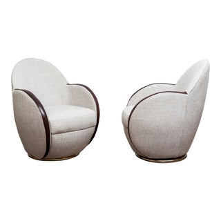 Pair of Swivel Chairs, France, 1950s For Sale