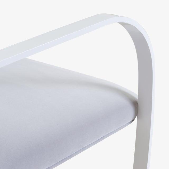 Brno Flat-Bar Chairs in Dove Velvet, Lunar Gloss Frame For Sale In New York - Image 6 of 10