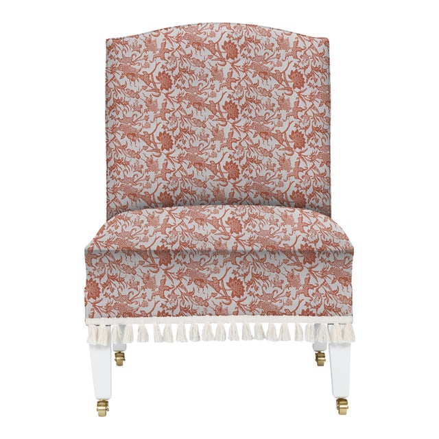 Traditional LuRu Home for Casa Cosima Sintra Chair, Prussian Carp, Paprika For Sale - Image 3 of 5