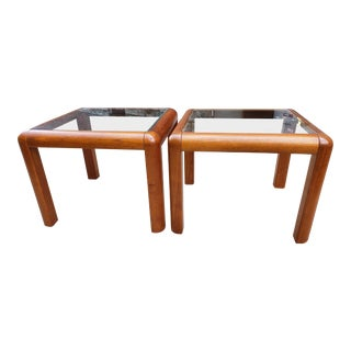 Mid Century Modern Mobler Danish Teak Wood Coffee Table & Side Tables Set For Sale