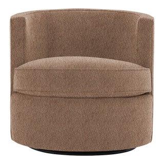 Bernhardt x Chairish Fleur Swivel Chair, Persimmon Boucle For Sale