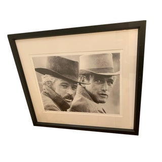 Black and White Photograph of Newman and Redford For Sale