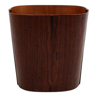 Mid Century Modern Small Wooden Wastebasket Trash Can Mobler Denmark 1960s For Sale