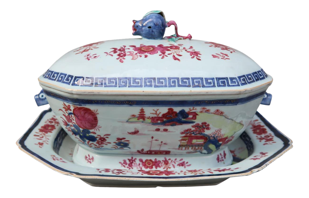 A porcelain tureen with tray gustavian period Sweden XIXth century  sc 1 st  Decaso & Antique \u0026 Designer Porcelain Decorative Plates | DECASO