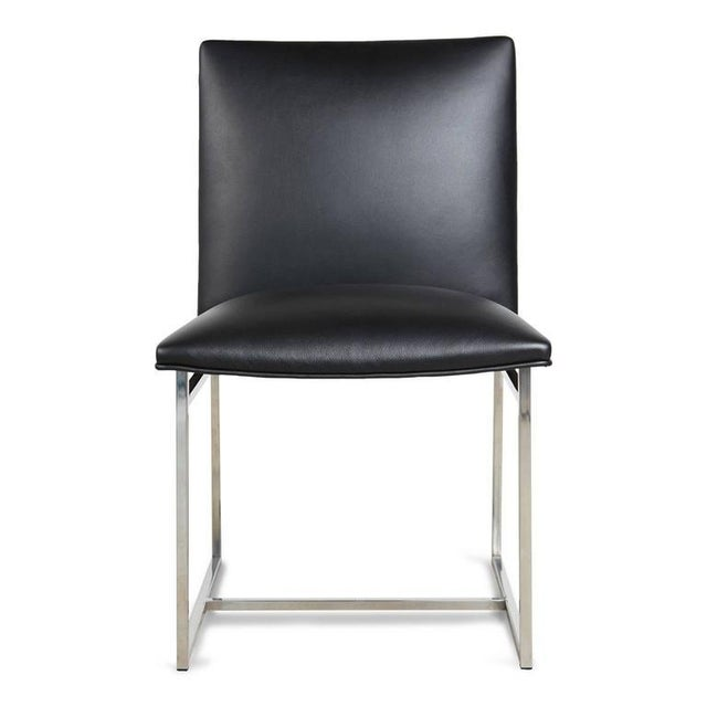 Milo Baughman Dining Chairs Reupholstered in Edelman Leather, Circa 1970 - Set of 8 - Image 2 of 8