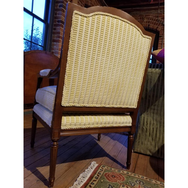 Lewis Mittman Fauteuil in Cream Velvet From Waldorf Astoria New York For Sale - Image 4 of 12