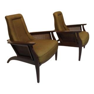 Mid-Century Modern Danish Modern Club Chairs - a Pair