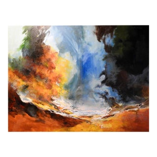 """""""Earth & Air"""" Natural Atmosphere, Contemporary Oil Painting For Sale"""
