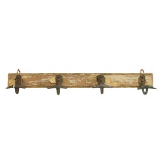 Art Deco French Distressed Hook Rack