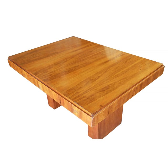 Charles Dudouyt Cubist Inspired Walnut Desk For Sale In Los Angeles - Image 6 of 10