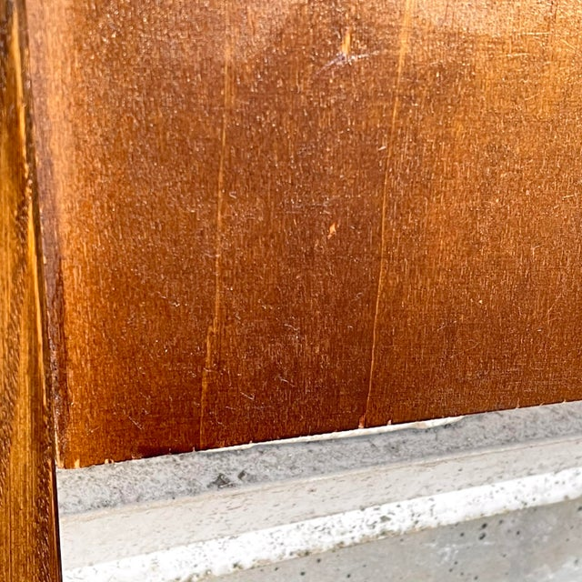 Brown Mid-Century Walnut Twin Headboard and Footboard For Sale - Image 8 of 13