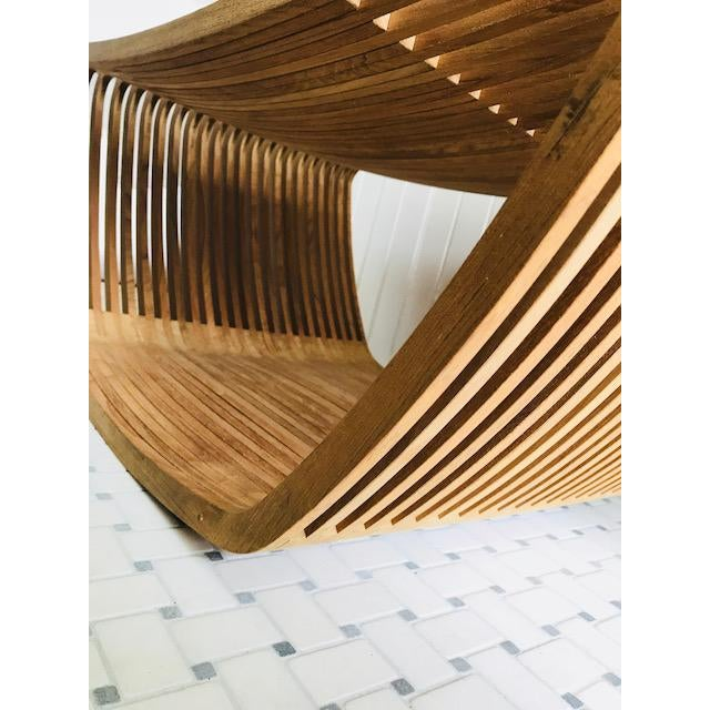 Cappellini Teak Hula Stool For Sale In New York - Image 6 of 7
