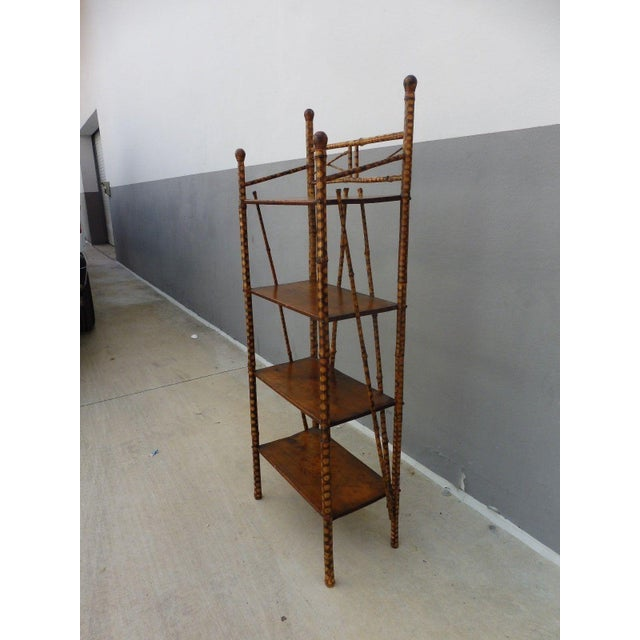 19th Century Victorian 4 Tier Bamboo Etagere For Sale In Miami - Image 6 of 10