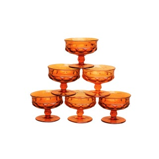Amber Dessert Dishes - Set of 6 For Sale