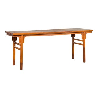 Chinese Ming Dynasty Style Elmwood Altar Console Table with Simple Design For Sale